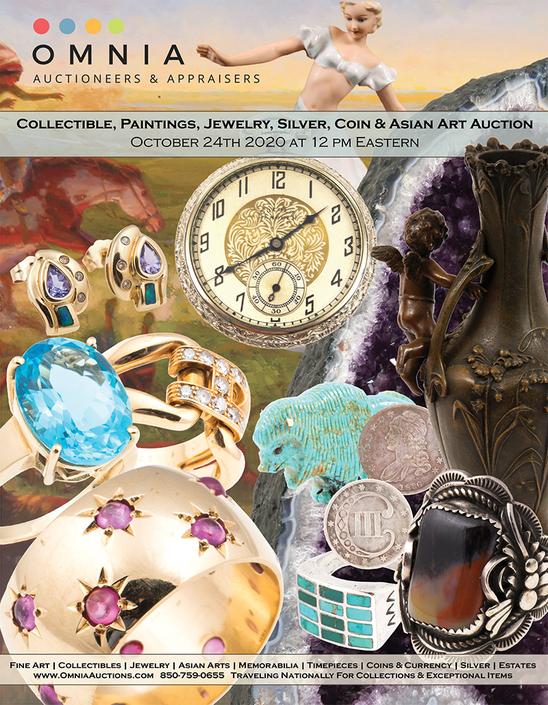 Collectible, Paintings, Jewelry, Silver, Coin & Asian Art Auction - October 24th 2020