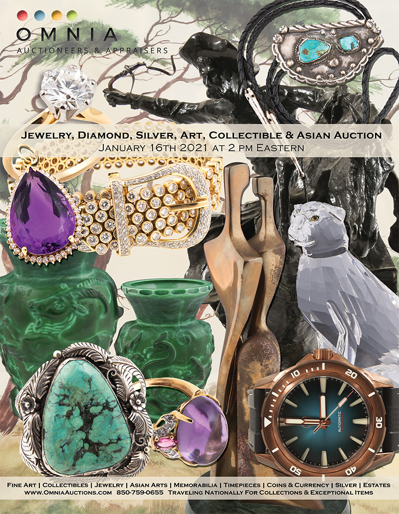 Jewelry, Diamond, Silver, Paintings, Collectible & Asian Art Auction - January 2021