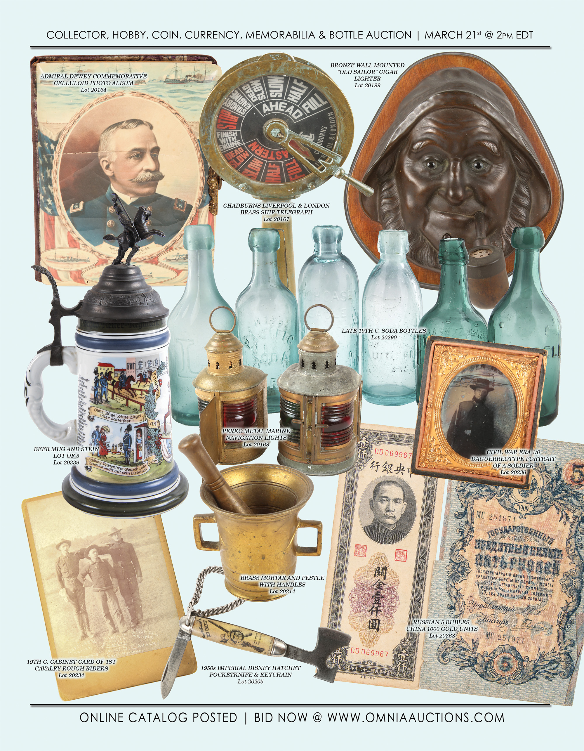 Collector, Hobby, Coin, Currency, Sport, Memorabilia & Bottle Auction