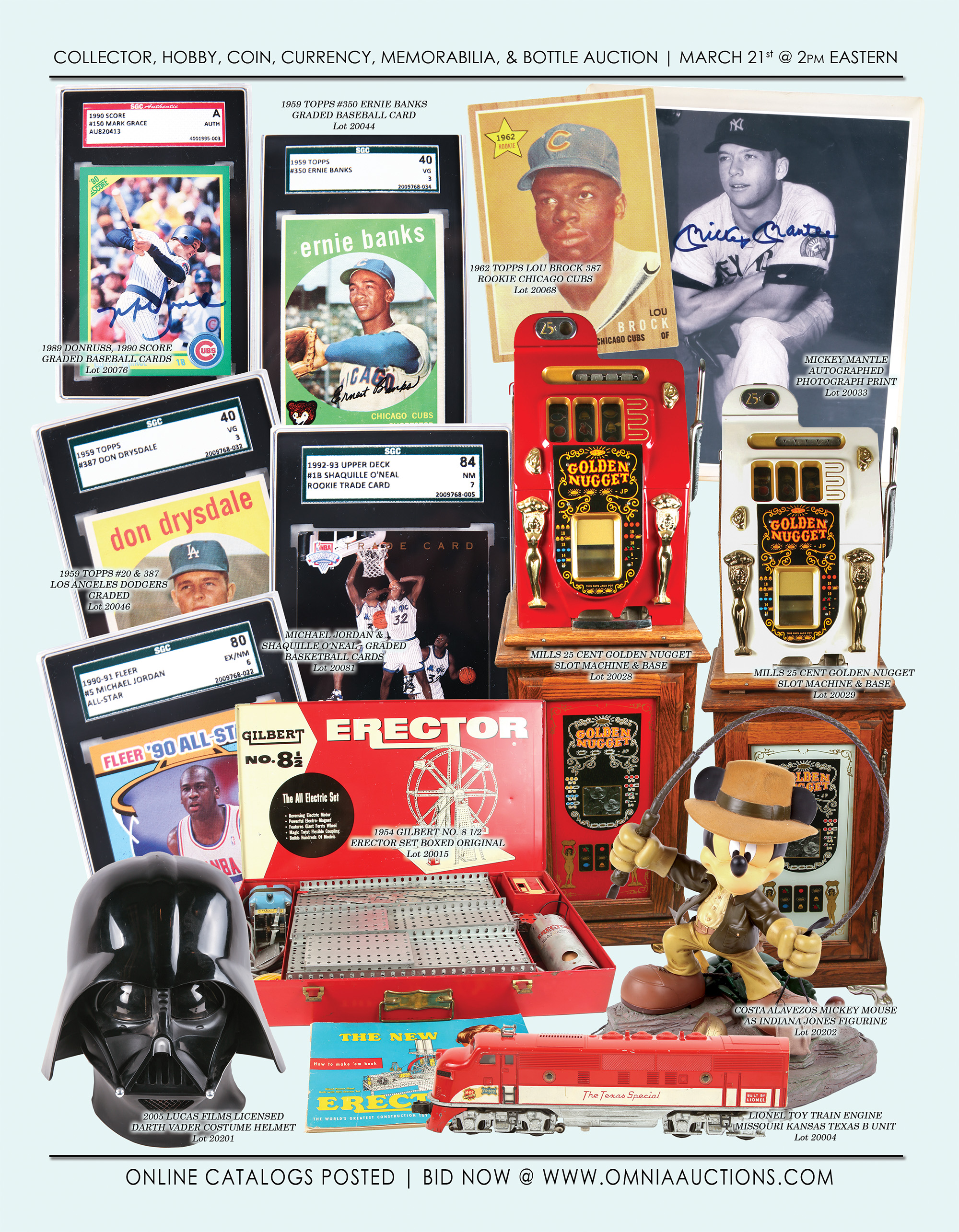 Collector, Hobby, Coin, Currency, Sport, Memorabilia & Bottle Auction - Baseball