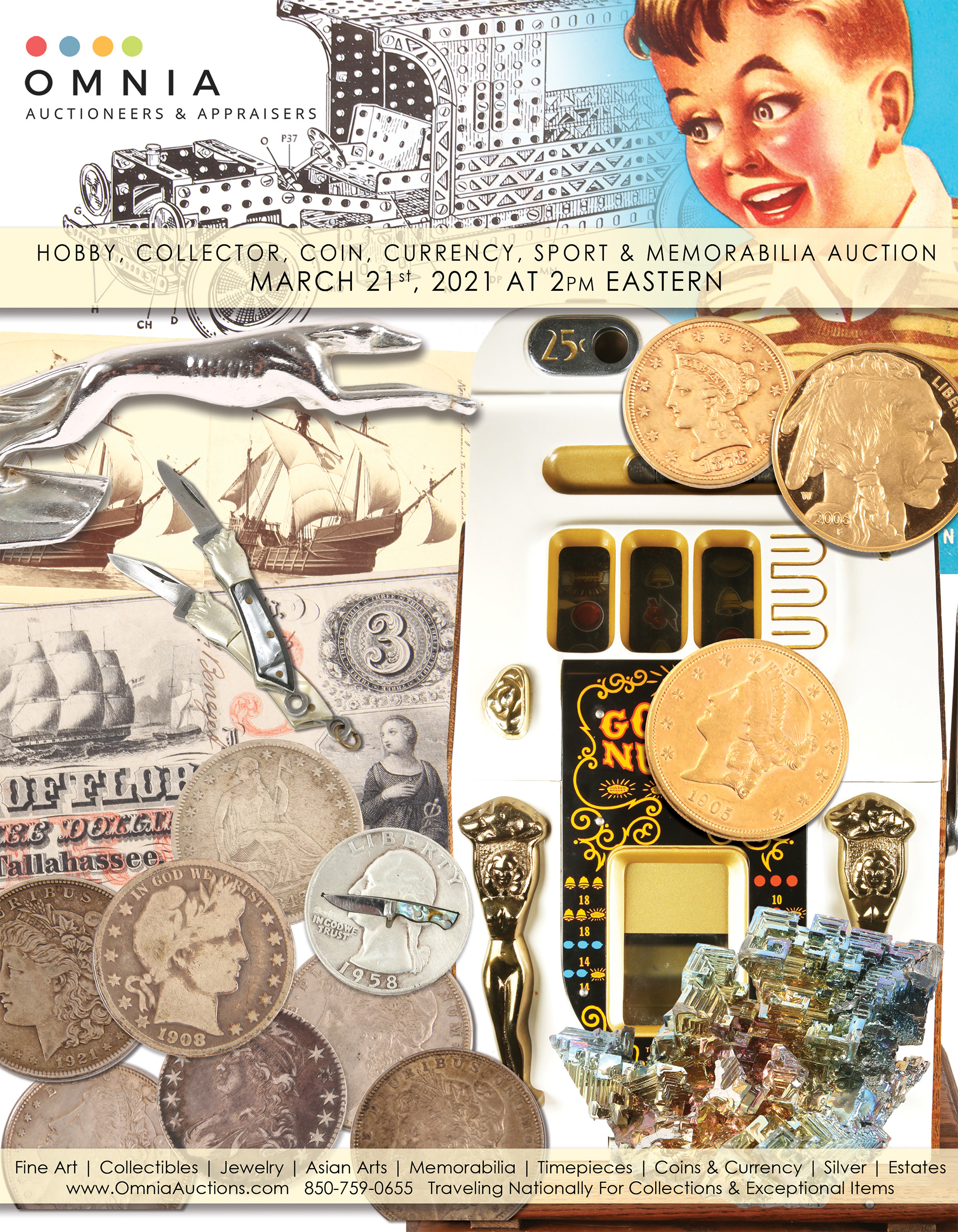 Collector, Hobby, Coin, Currency, Sport, Memorabilia & Bottle Auction - C
