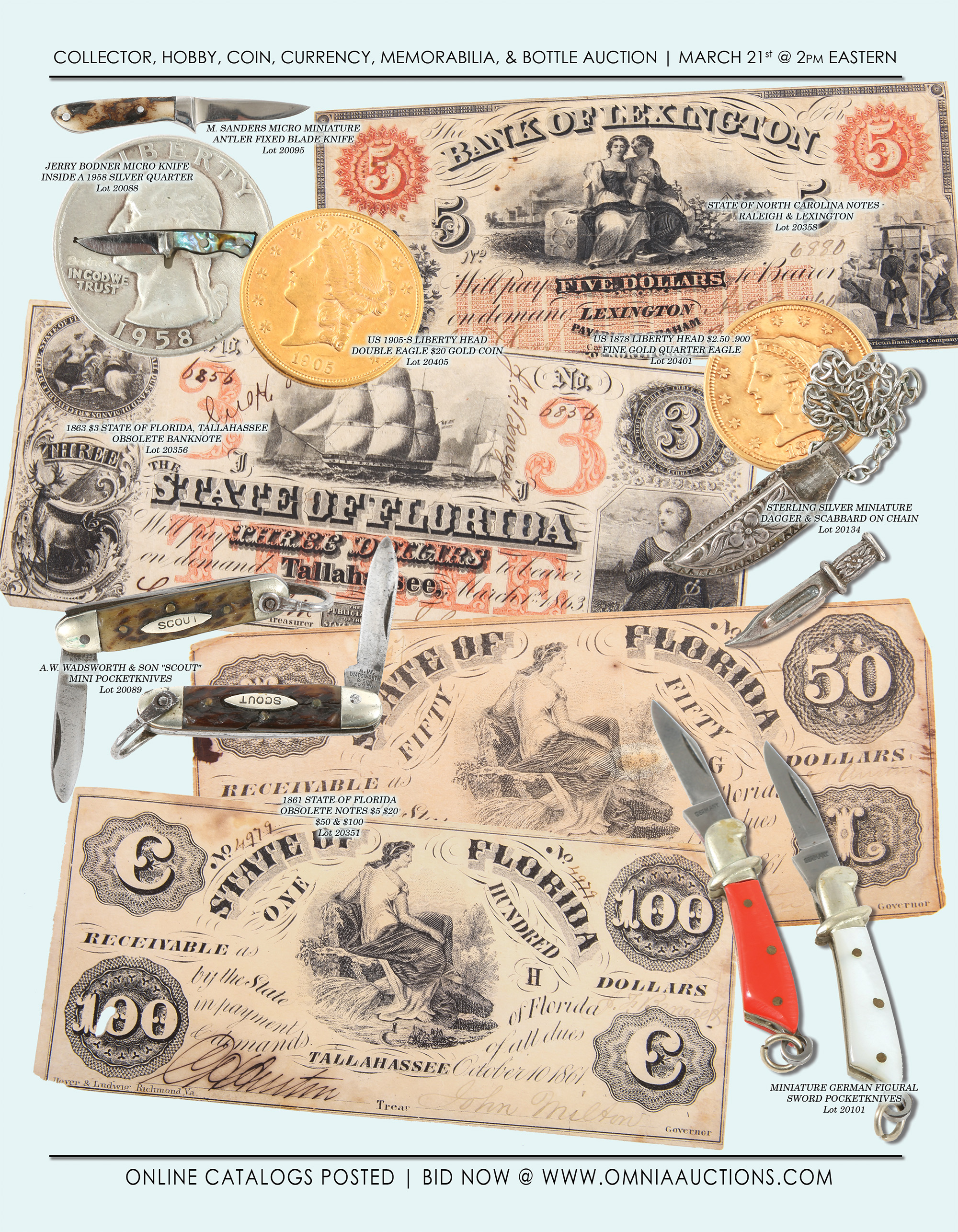 Collector, Hobby, Coin, Currency, Sport, Memorabilia & Bottle Auction - Coin & Currency 2