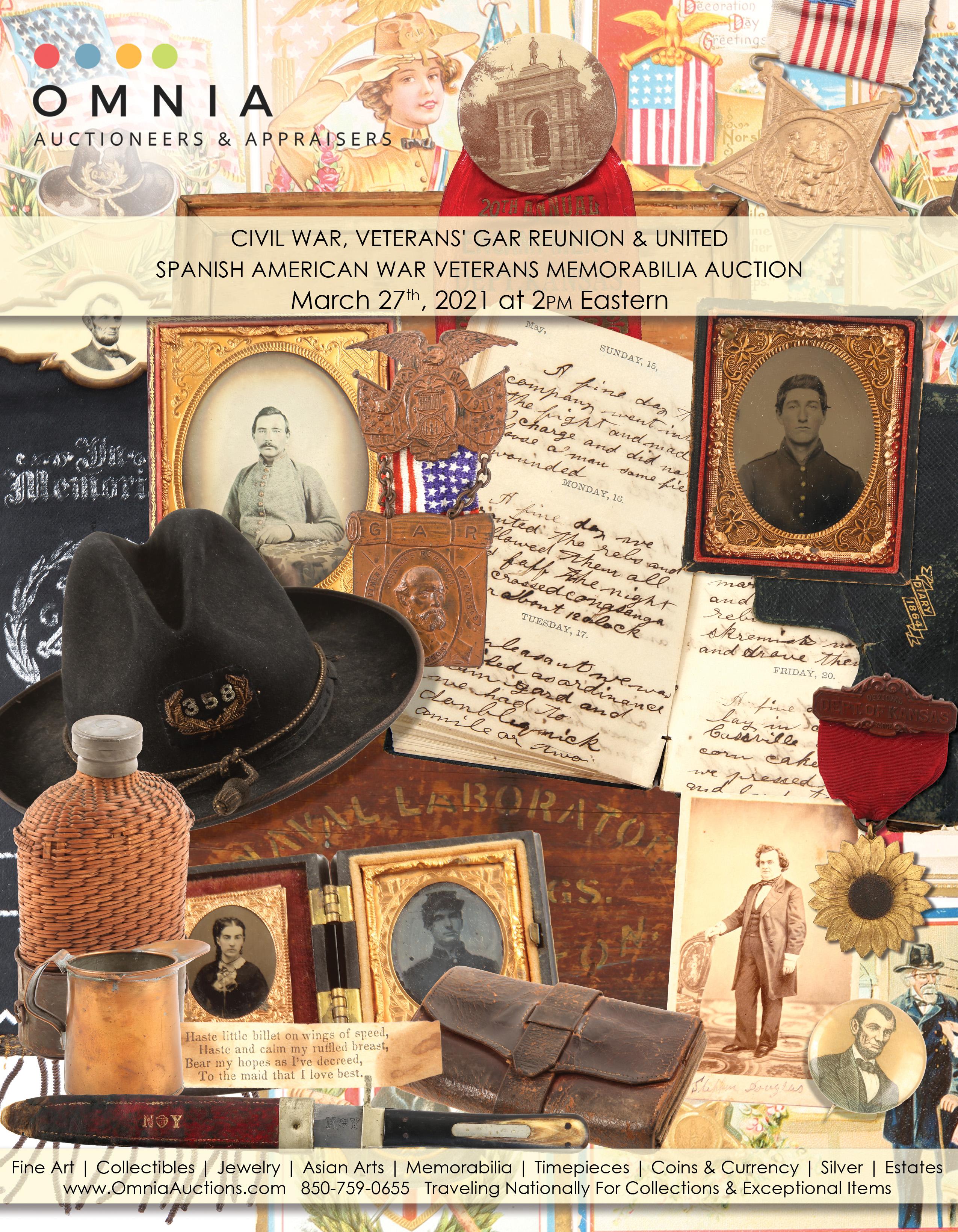 Civil War Veteran GAR Reunion Spanish American War Veteran Auction - Buy, Sell, Appraise 327