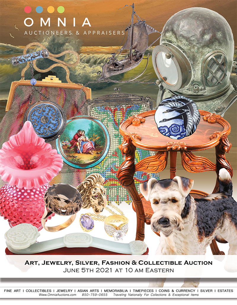 Art, Jewelry, Silver, Fashion & Collectible Auction - June 2021