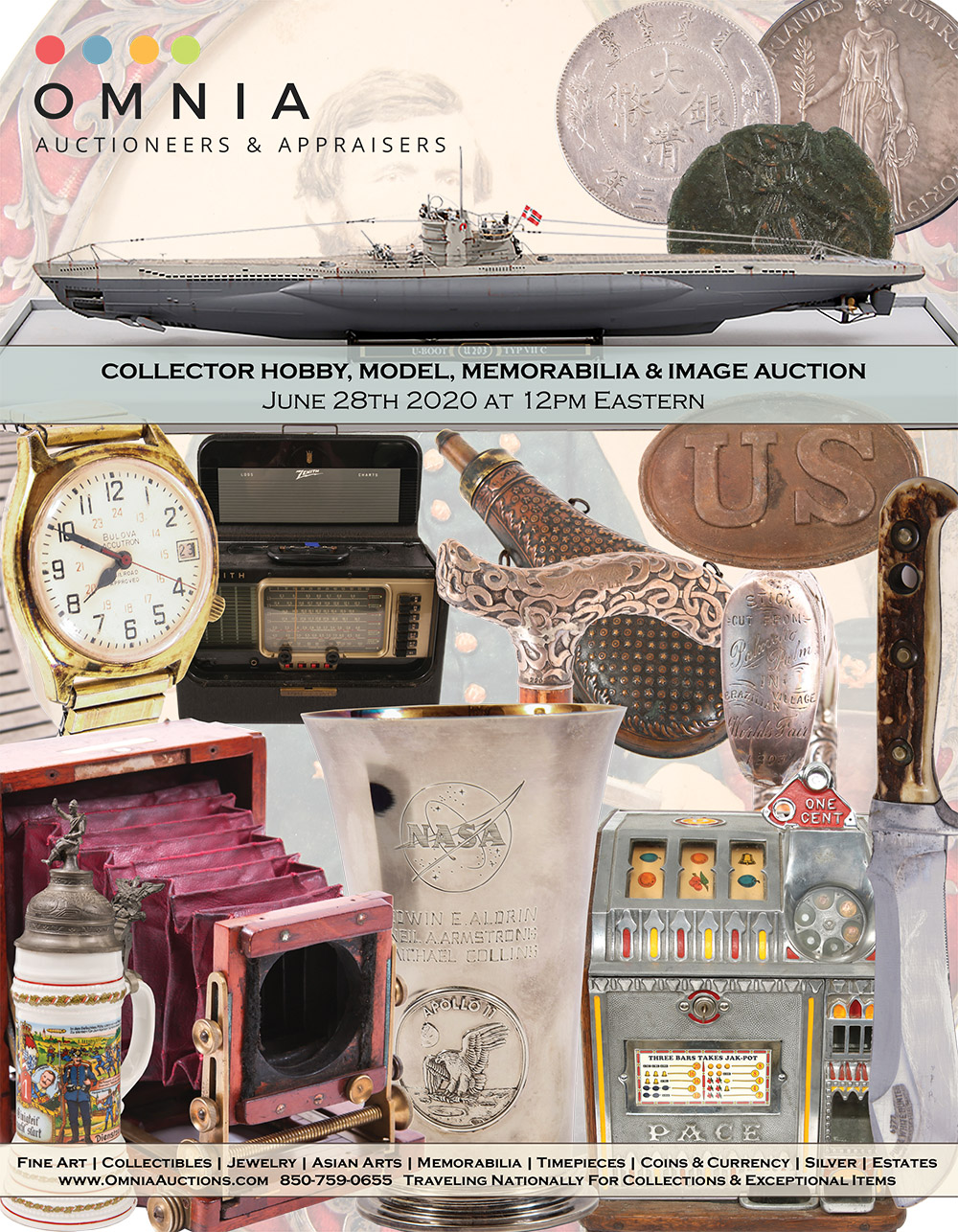 Collector Hobby, Model, Memorabilia, Book & Numismatic Auction