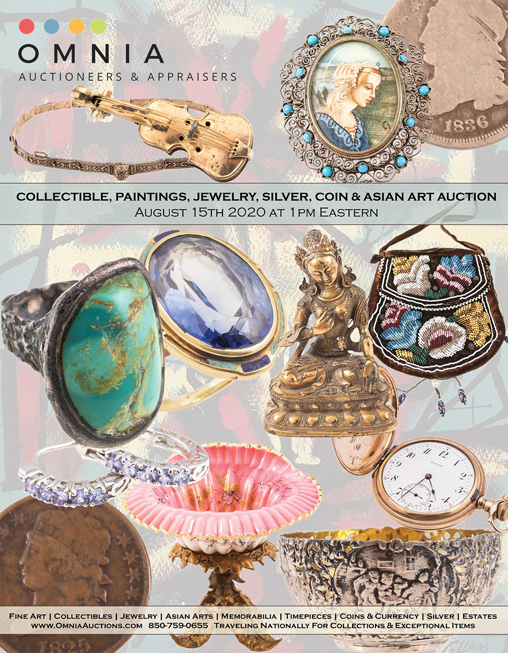 Collectible, Paintings, Jewelry, Silver, Coin & Asian Art Auction