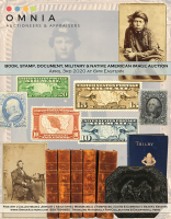 Book, Stamp, Document & Paper Ephemera, Military & Native American Image Auction