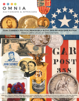 Coin, Currency, Political & Civil War GAR Memorabilia Auction